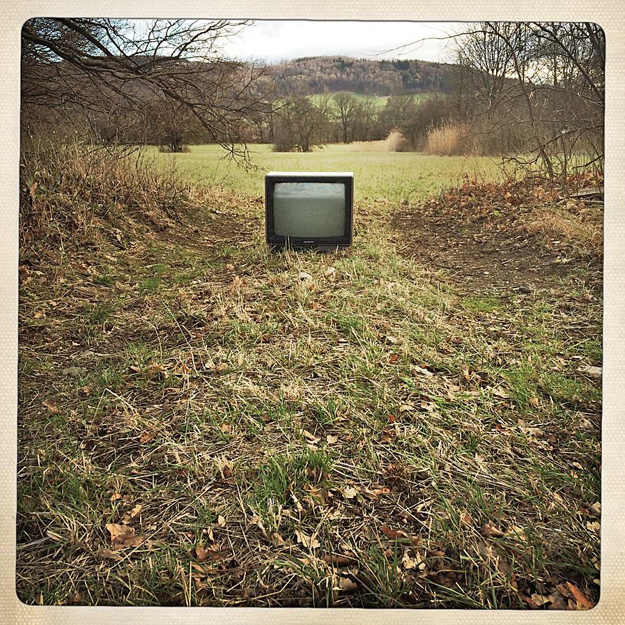 Fernseher auf Abwegen