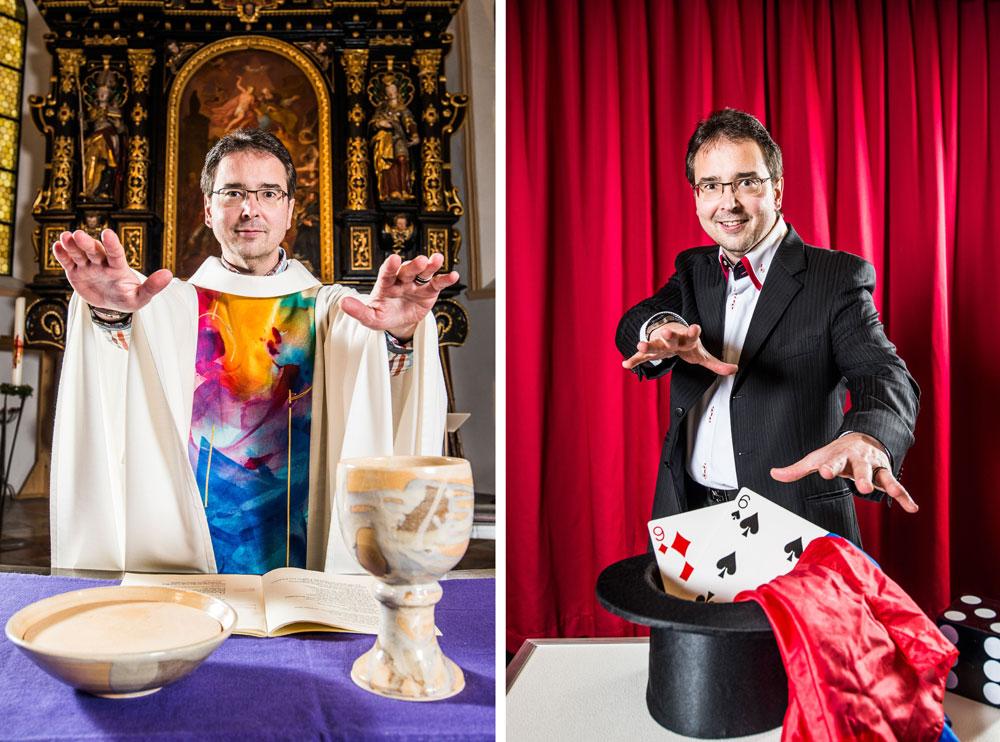 Gert Smetanig, Pfarrer und Magier
